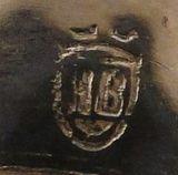 Silberpunze HB im Wappen unter 3 Zinnen