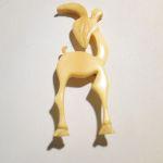 Art Déco Brosche brooch bone Bein goat Ziege