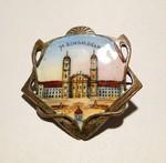 Souvenir Brosche Maria Einsiedeln - Jugendstil - brooch art nouveau
