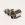A*D Daub Pforzheim Modernist Anhänger 800 Silber pendant silver tubes