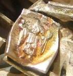 Johann Michael Wilm Brosche Silber brooch silver Rhodolit Rhodochrosit Punze hallmark