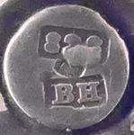 Bernard Hertz Bernhard Skonvirke Jugendstil Silber silver BH necklace collar Kette