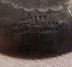 Asoe Denmark Danmark Dänemark pewter tin ten Zinn Ring
