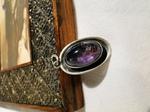 Georg Kramer 835 Silber Anhänger Amethyst silver pendant